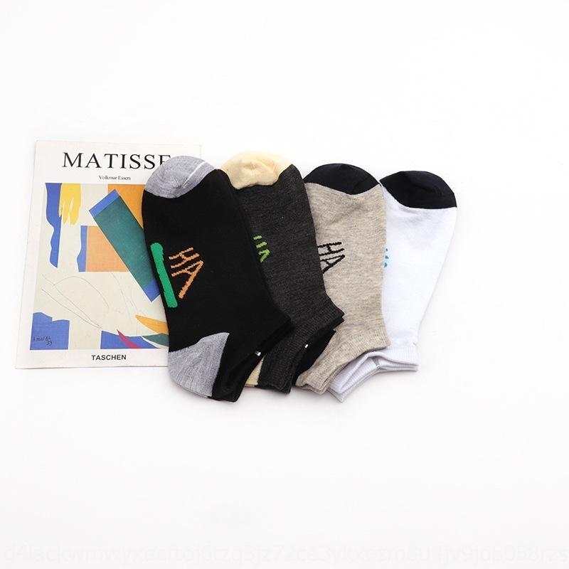 Yi Deshang мужчин полиэстера носки и носки хлопок весной и летом английские буквы независимой упаковки личность корейски прилив SPOR
