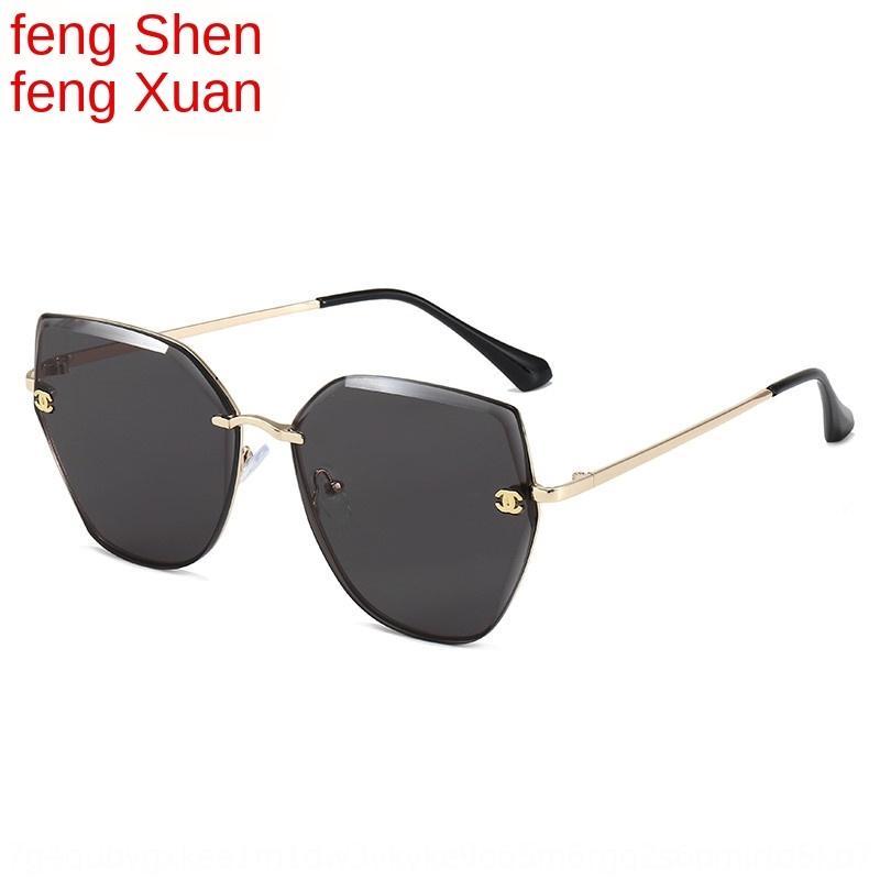 bUszk Nuovo taglio frameless sole sole internet delle donne xiaoxiangjia femminile Vetri popolari stessi occhiali di moda