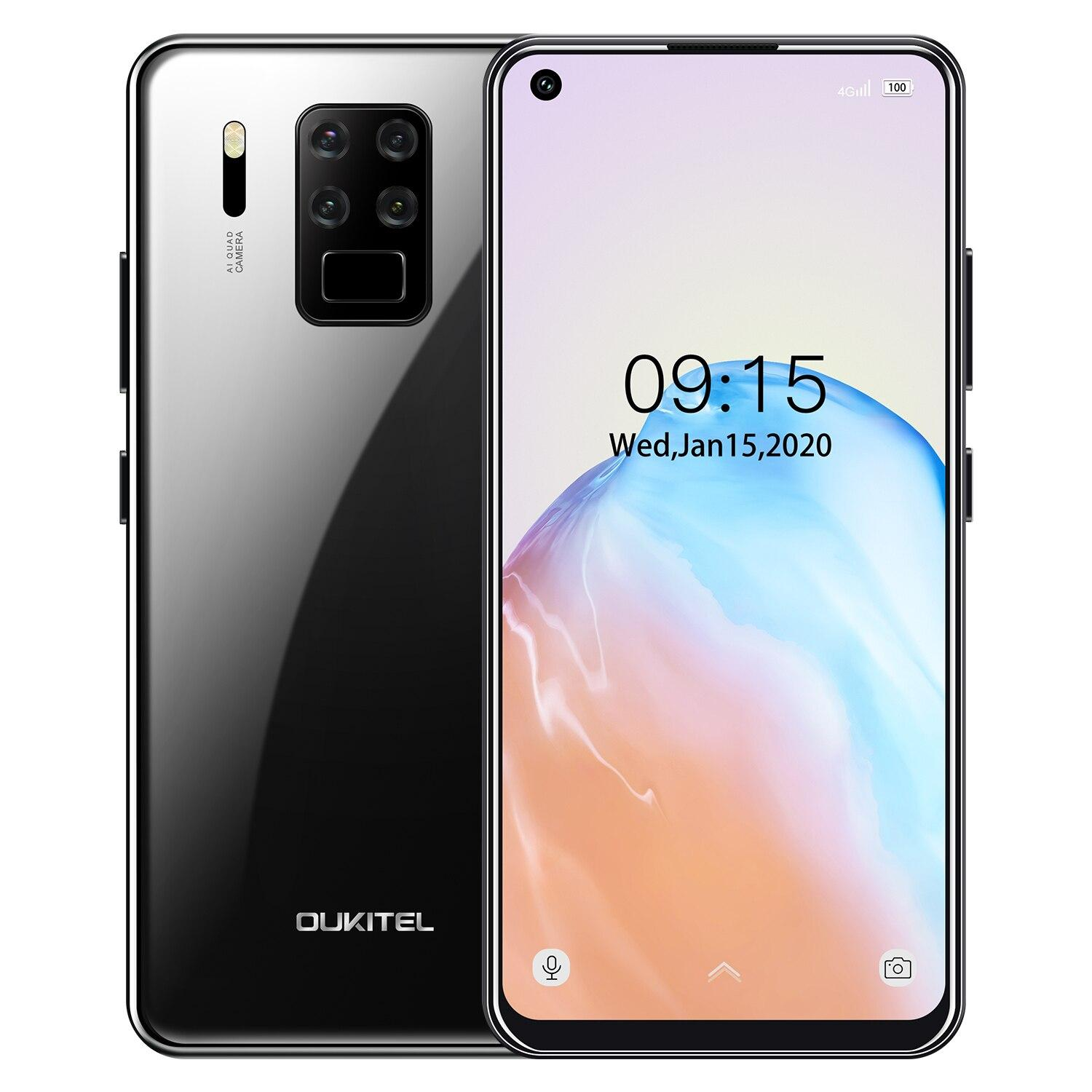 "OUKITEL C18 Pro 4G RAM 64G ROM 4G LTE Smartphone 6.55""HD Android 9.0 MTK6757 Octa Core 16MP 4 Cameras 4000mAh 5V2A Mobile Phone"