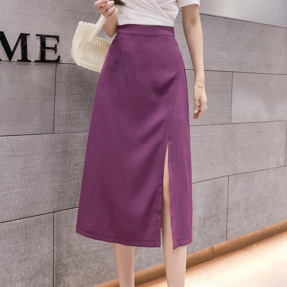 nuova Spalato vita BrPDc 2020 di donne del pannello esterno Estate Mid-gonna hip-coperto abito linea di design di nicchia A- per le donne