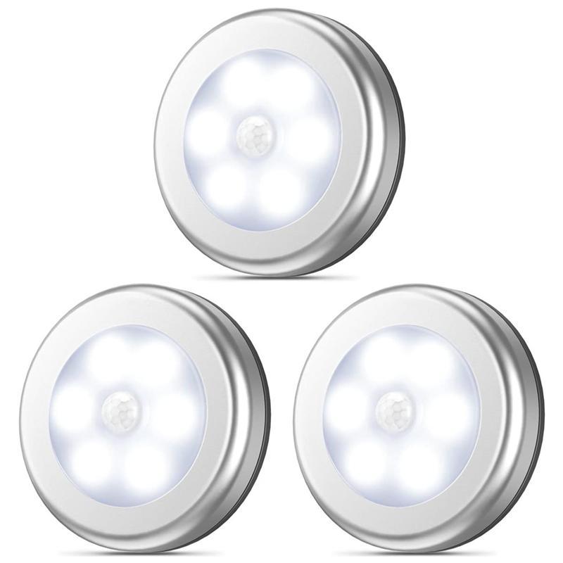 3-Pack Kablosuz Led Gece Işık Hareket Sensörü Ile Pil Kumandalı Dolap Işıkları Cutport-One Lighting Koridor Merdiven Stüdüncü