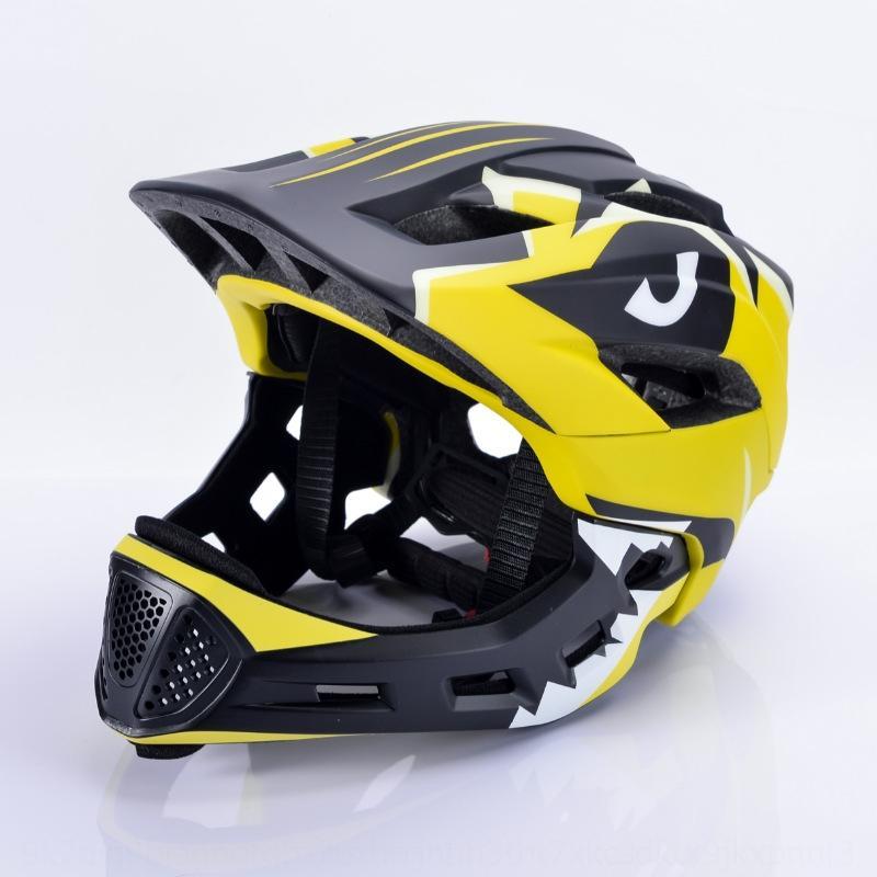 carro bicicleta equilíbrio do fpiny Crianças scooters rolo completo de equitação capacete da bicicleta infantil patinação capacete integral queixo destacável