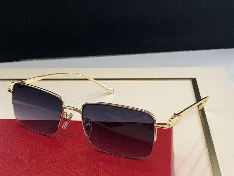 1165 Meia moldura moda homens e mulheres óculos de sol envolto óculos de sol quadrado quadro anti-ultravioleta lente de verão estojo de qualidade superior