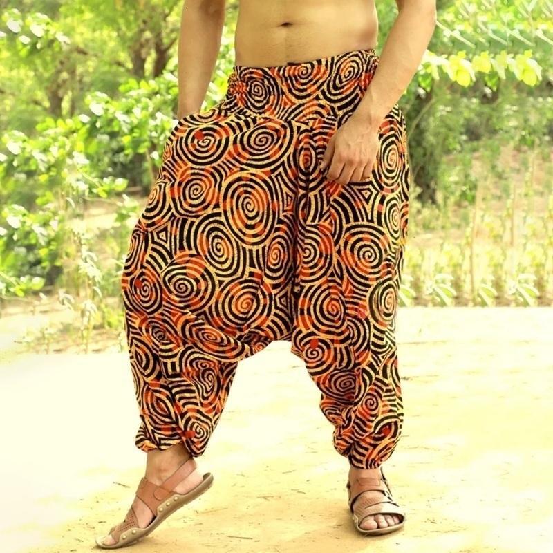 Багги Хлопок Лен Гарем Мужчины Хип-хоп Широкие ноги брюки Casual Vintage Long Pantalones HOMBRE 2020 весна свободные брюки