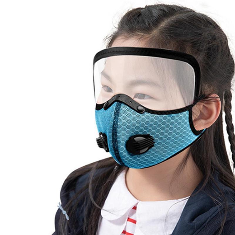 Masque randonnée à vélo amovible Breath Eye Shield Masques Valve Sports de plein air antipoussière Protection respirante Removeable Visage Couverture Iia538