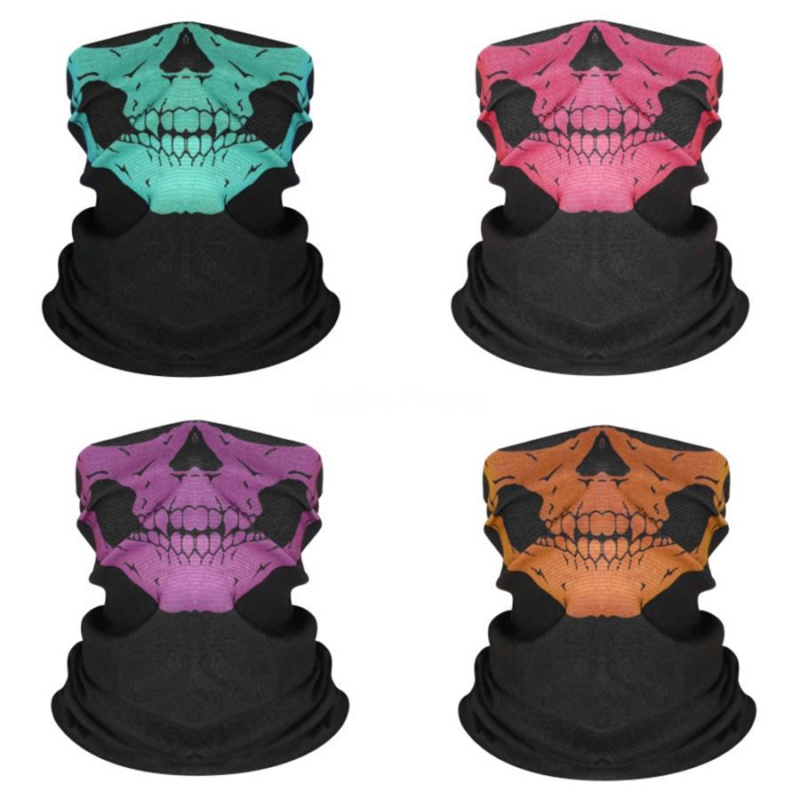 Sihirli Kafatası Eşarp Bisiklet Motosiklet Kaskı Yüz Yarım # 815 # 228 Cs Kayak Şapkalar Boyun Bisiklet Korsan Kafa Şapka Cap Cadılar Bayramı Mas Maskesi