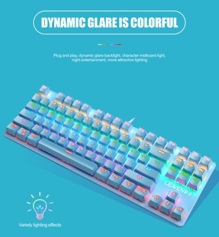 Clavier mécanique 87 Green Keys Axis Gaming Notebook Bureau concurrentiel Clavier professionnel pour ordinateur portable PC Gamer