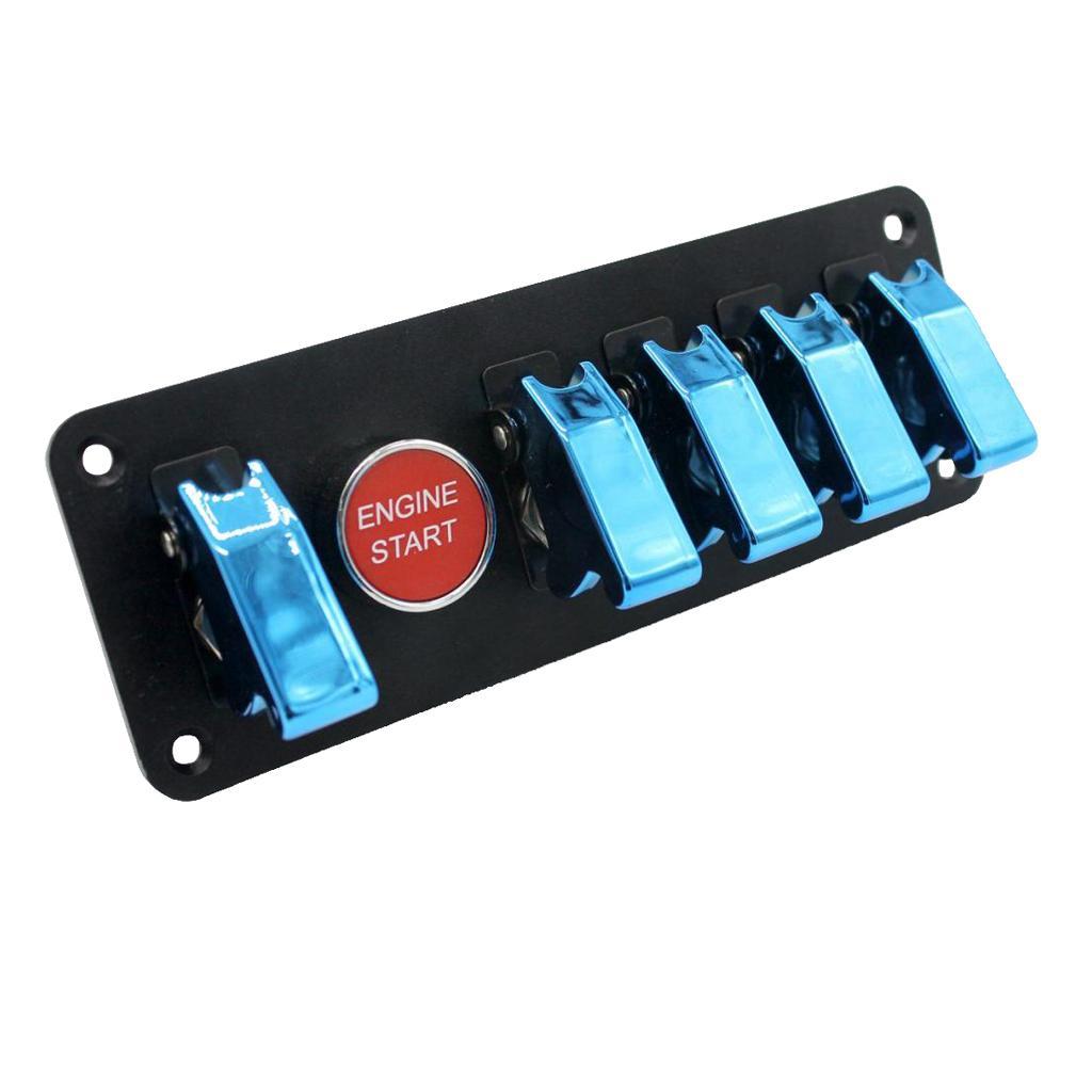 6 Gang Araba Yarışı Geçiş Kontak Anahtarı Paneli Motor Başlat Düğmesi Mavi