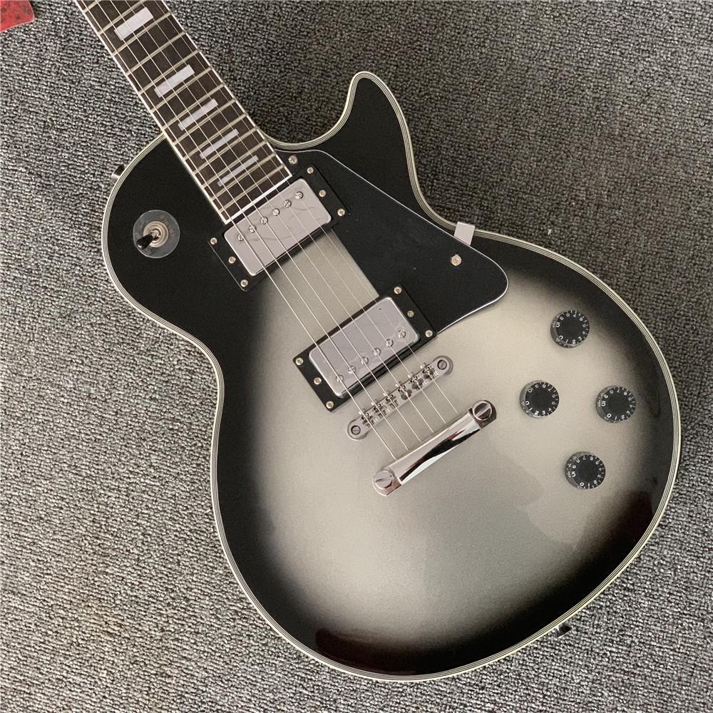 Free ShippingMusical Instruments custom silverburst gray electric guitar guitars guitarra
