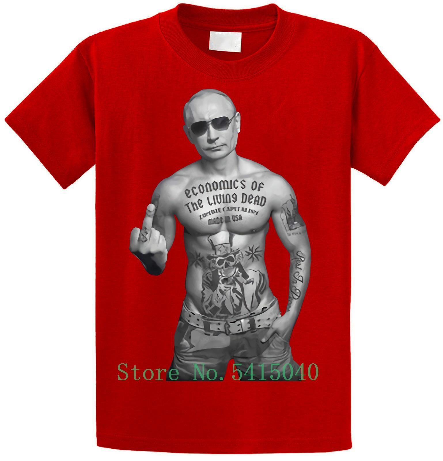 Wladimir Putin T-Shirt Zombi Kapitalismus made in USA T-Shirt S-5xl neue Art und Weise der Männer heißen Verkaufs-Sommer