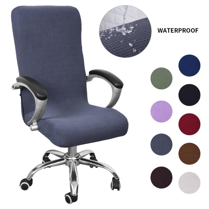 Impermeable Presidente elástico Cubiertas anti-sucio giratoria estiramiento Oficina Escritorio de la computadora asiento de la silla de la cubierta extraíble Fundas S / M / L