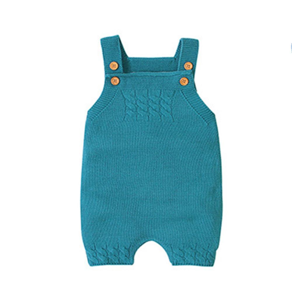 2020 muchachas del otoño de tirantes color puro tejer mameluco recién nacido para ropa de bebé niña