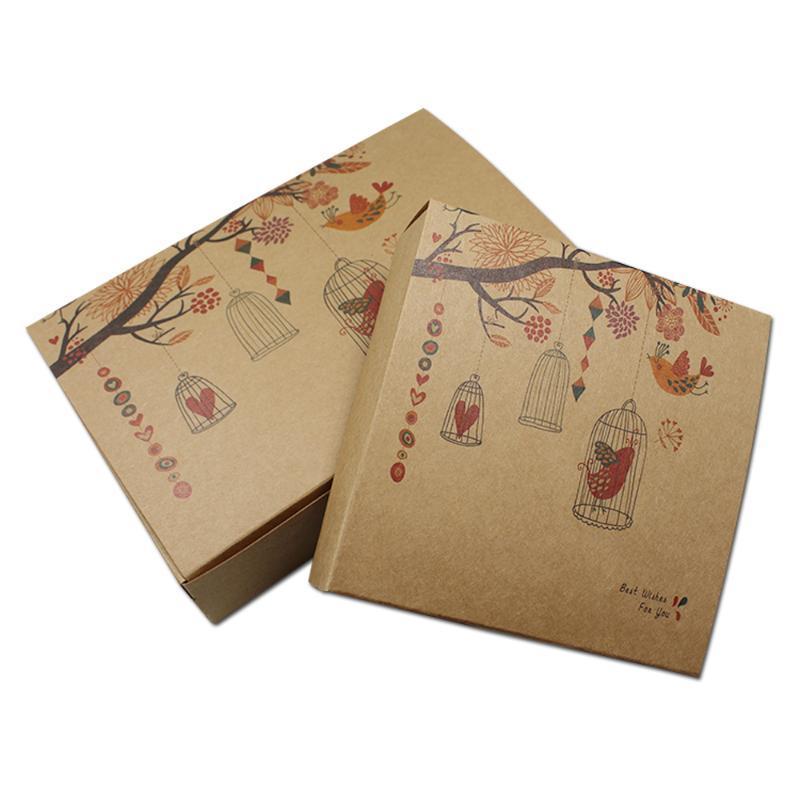 Lot Brown Boutique Papel Kraft cajas 20pcs / para el favor del banquete de boda del regalo de cumpleaños de jabón de almacenamiento joyería del arte de la caja del paquete plegable