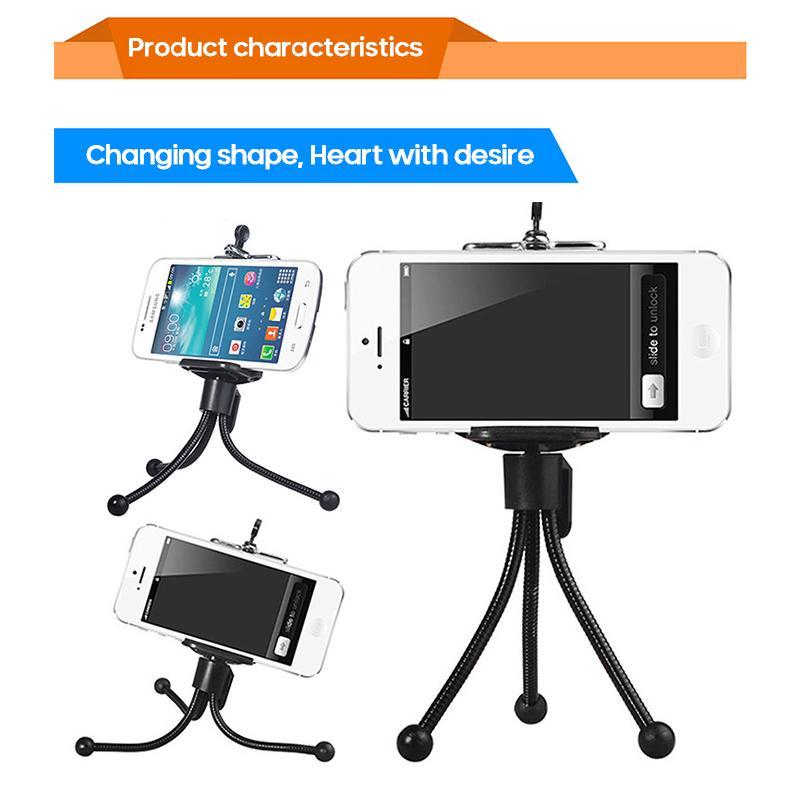 Mini flexible Esponja pulpo del trípode 360 ° soporte de la cámara portátil de viaje ajustable para Huawei Móvil