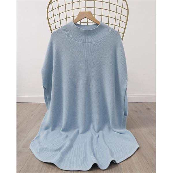 Women Sweater 2020 Autumn New Style Simple and Fashionable Gentle Round Neck Sleeveless Wool Knitted Cloak Women 0926