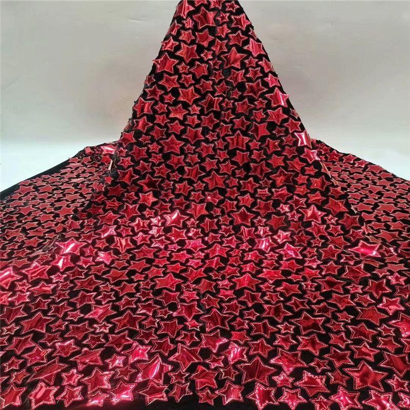 African Red пайеток ткань шнурка 2020 Mint высокого качество кружево французской Чистая Вышивка Тюль Бархат Ткань для нигерийского платье партии