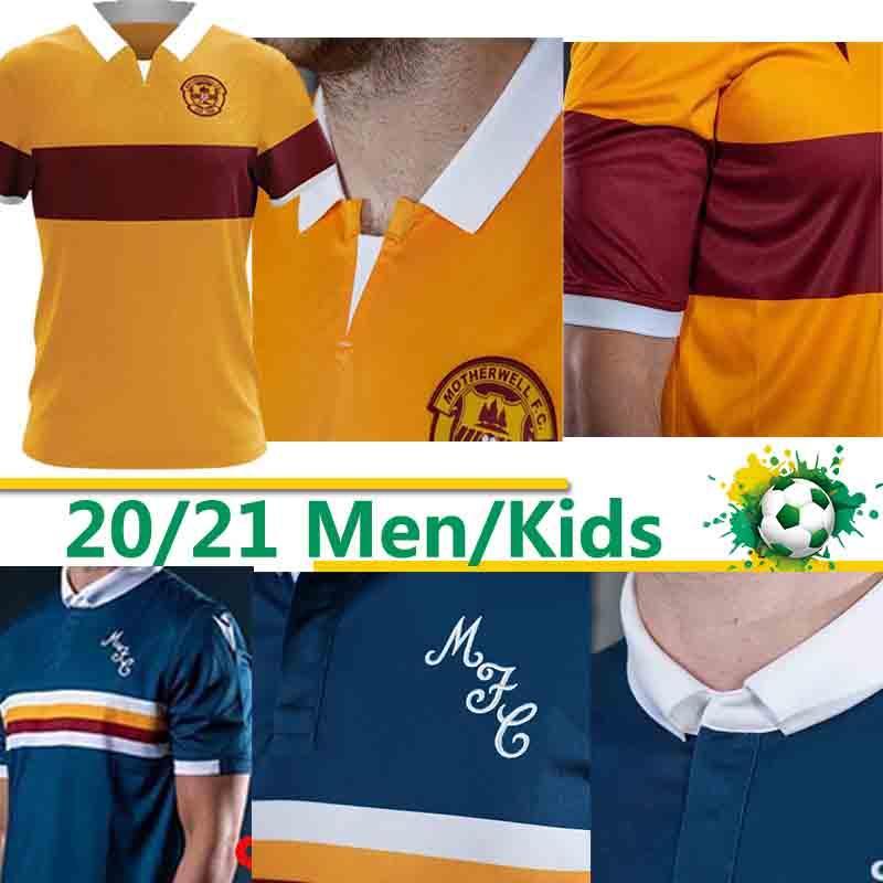 2020 2021 Maillot football Motherwell Ecosse THAI Donnelly A.Campbell blanc long Lang Watt Hastie uniformes de Short de soccer de football