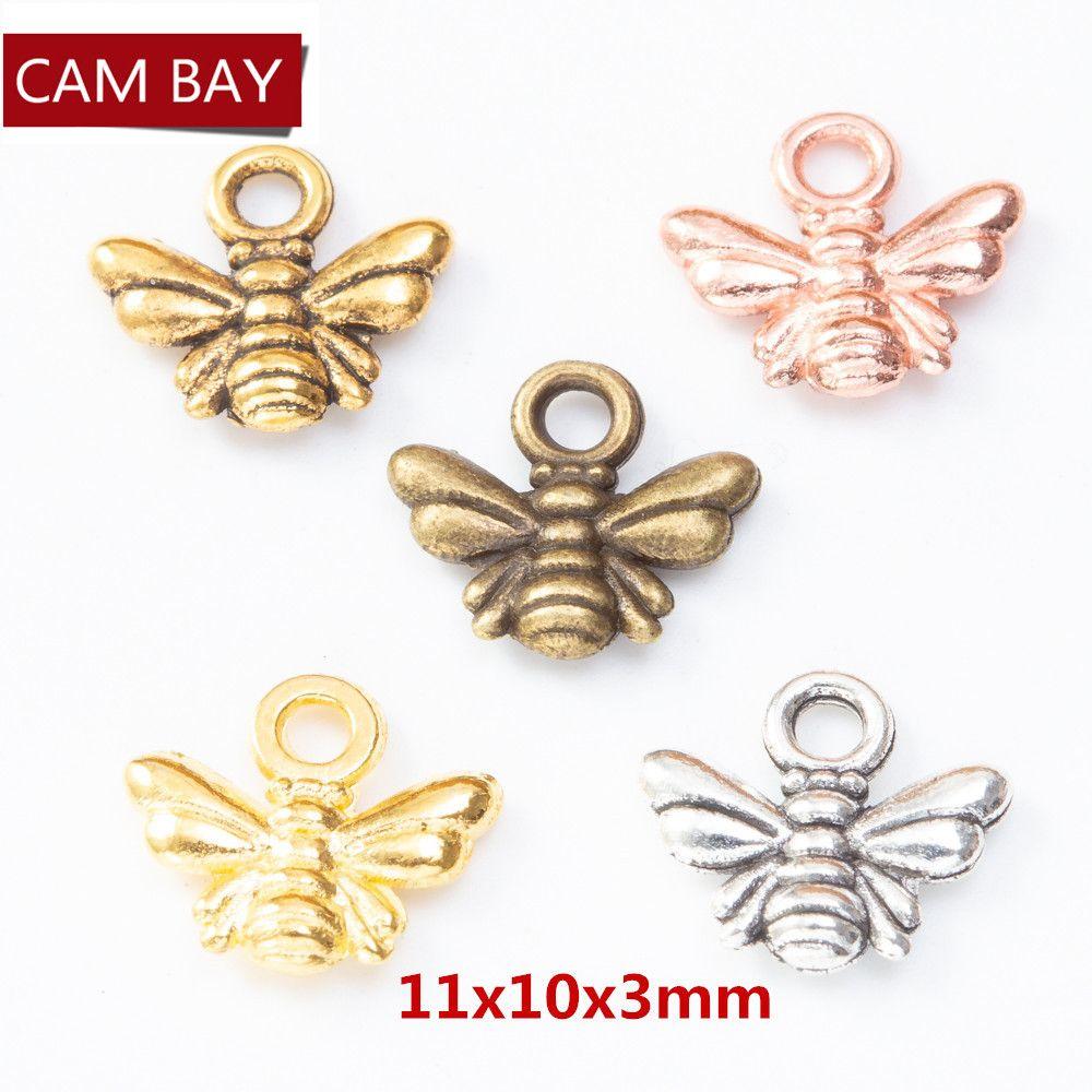 200pcs цинковый сплав Прекрасный Bee Подвески Подвески DIY ювелирных Fit браслеты серьги ожерелья