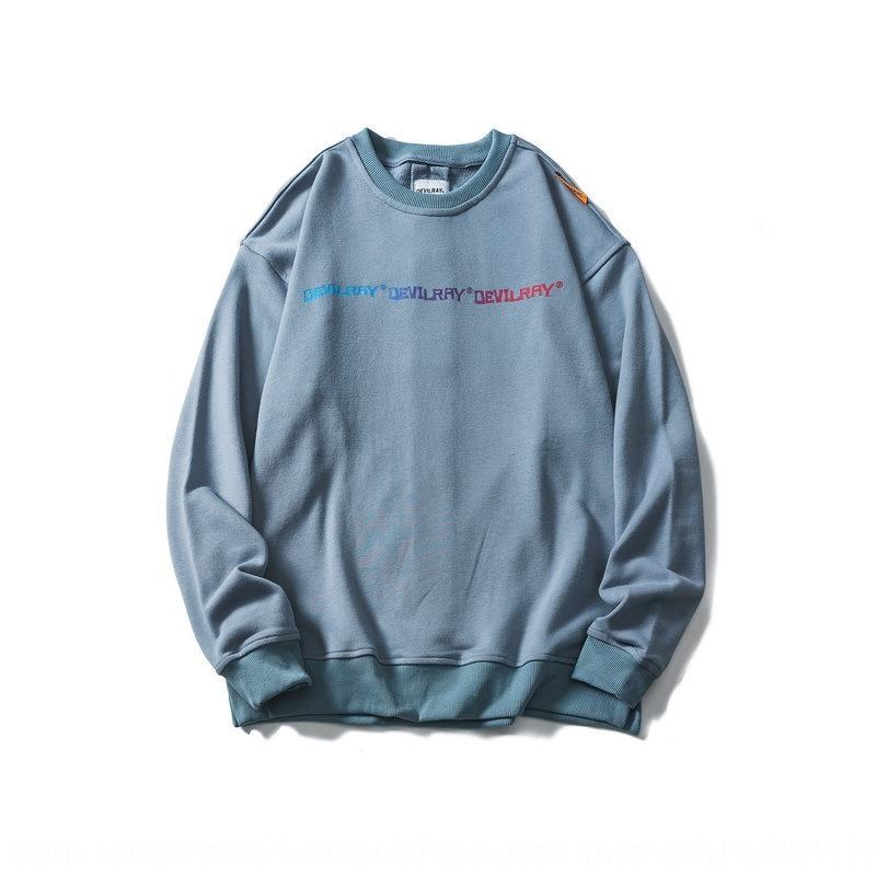 5CC5r Non è assolutamente una cosa comune maglione autunnale lettera sfumatura di colore stampa maglione girocollo personalità maschile indietro cra plissettato