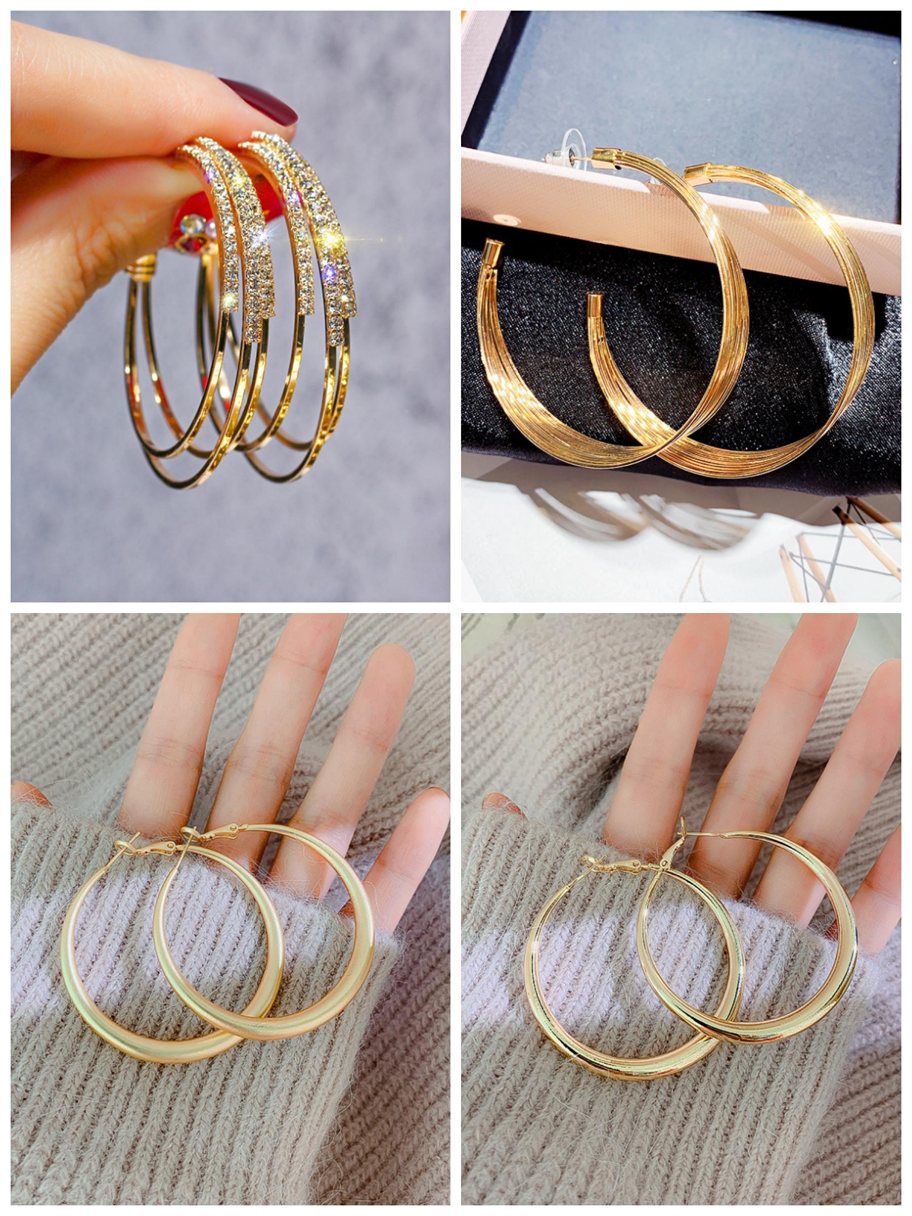 2020 جديد سحر مبيعات الساخنة أزياء المرأة الذهب والفضة الأقراط حلقة جودة سبائك والمجوهرات بالجملة
