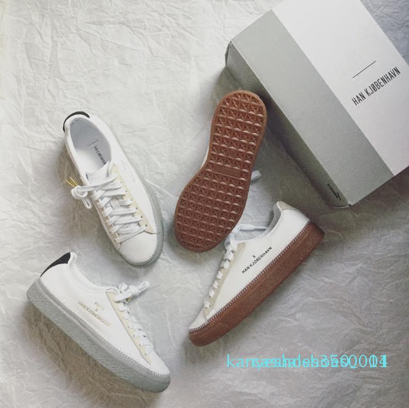 Han Kjobenhavn x Clyde Cousu pour hommes et femmes Chaussures Casual Baskets basses Couples Plateforme taille Chaussures 05 LTS K14