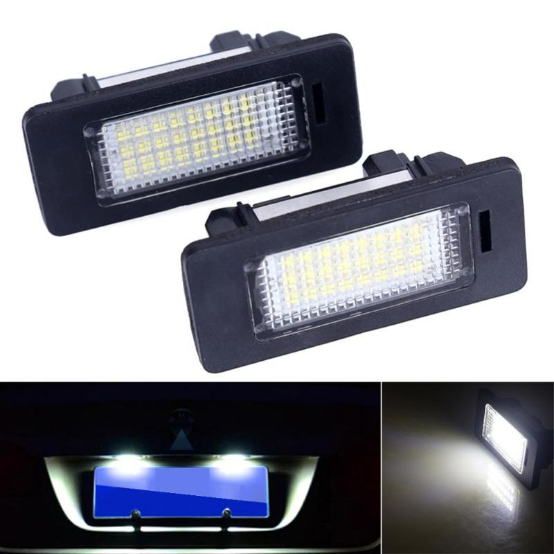 2Pcs Ошибки Лицензии Free LED автомобиль Тарелка свет автомобиль Стайлинг приспособленные для E39 E60 E70 E71 x5 X6 E60 M5 E90 E92 E93 M3 Аксессуары