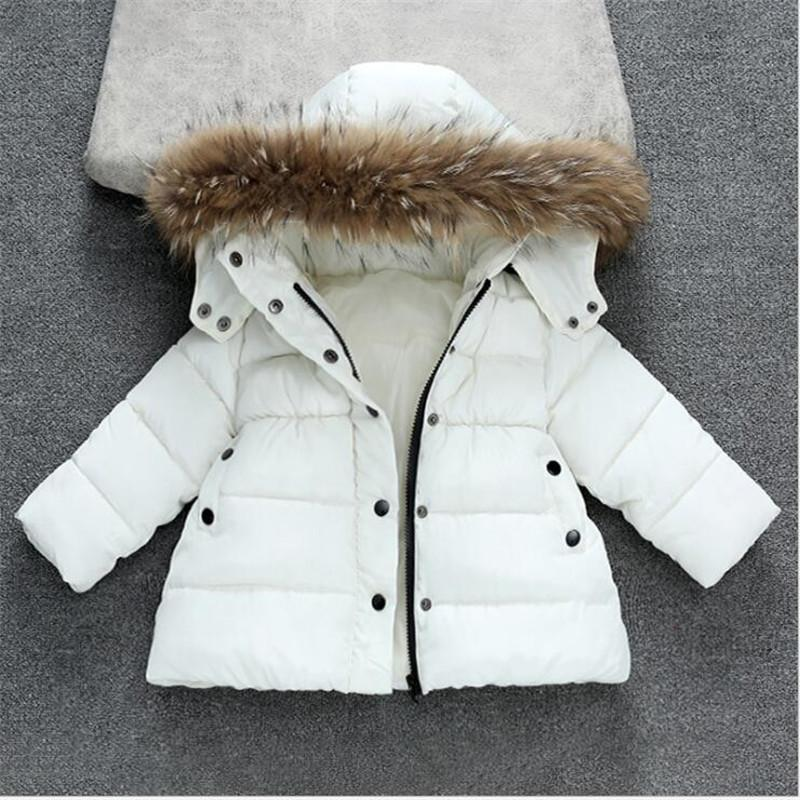 Kids Coat Baby Boys Girls Winter Outwear Childrens Parkas Jackets Child Warm Thick Fur Collar Hooded long down Coats