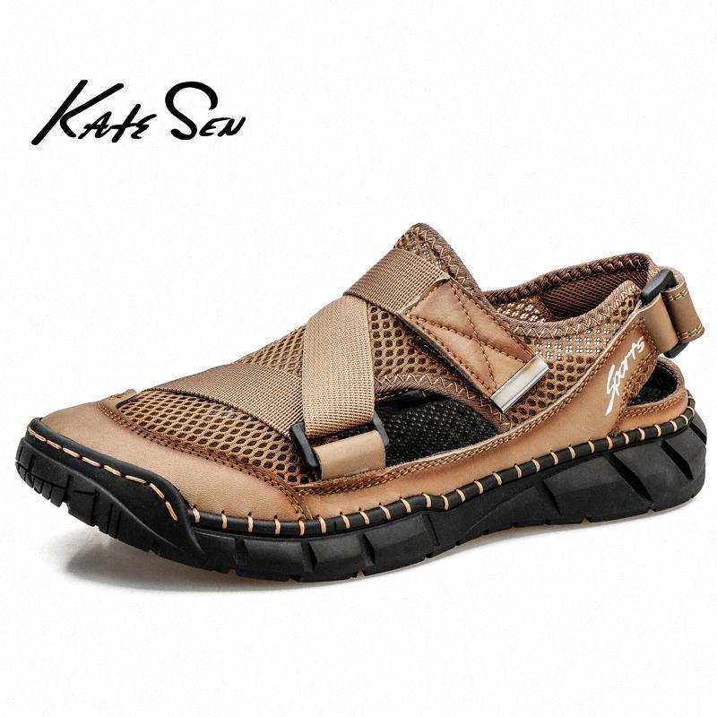 Новая Летняя мода Мужские сандалии дышащий Мужчины обувь Пляж качества Сандалии Человек Открытый Повседневная обувь Тапочки Roman Размер 39 48 Cute Sho kb9M #