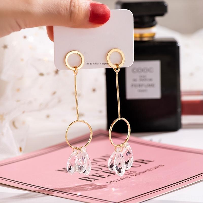 G5MH5 ouro jóias brinco brincos estilo coreano lote misto exagerada elegante Earline borla eardrop mulheres transparente