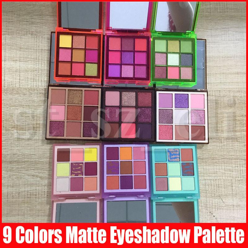 9 Styles Beuaty Eye Makeup Shadow 9 Colors Nude Eyeshadow Matte Shimmer Gliitter Eye Shadows Pressed Palette