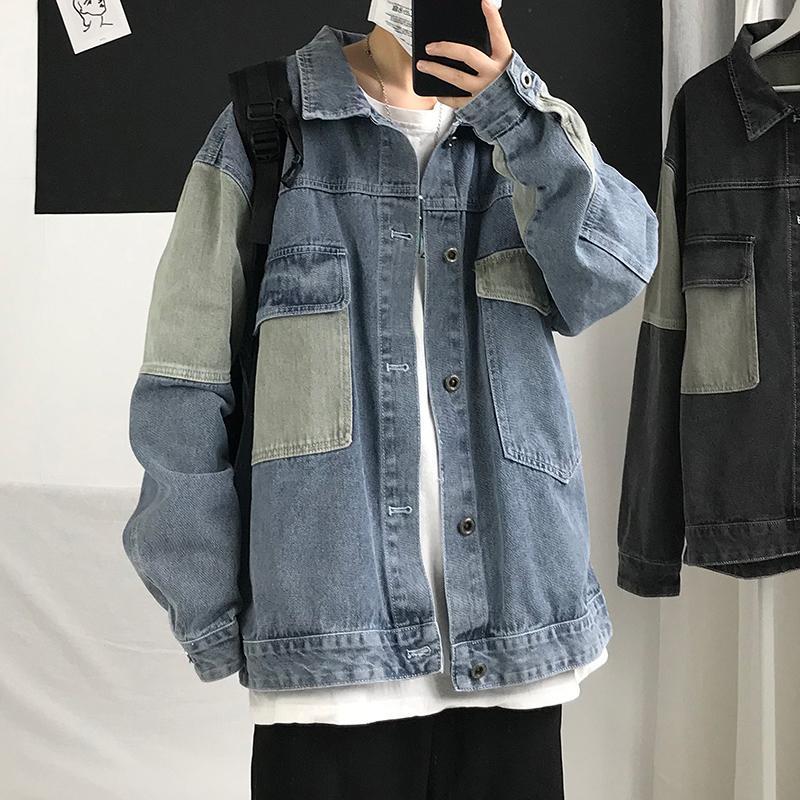 Denim jacket men's spring and autumn Korean style trendy autumn coat autumn jacket handsome clothes trendy street