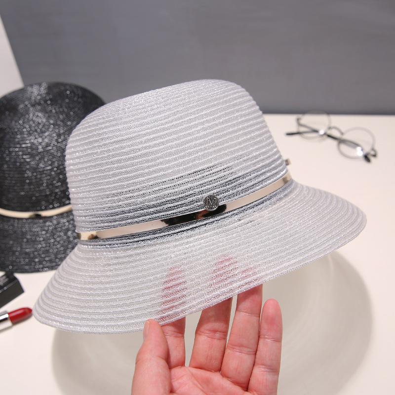 Hasır Şapka Kadın Yaz İngiliz Retro Düz Üst Hipster Şapka Güneşten Korunma Plaj Seyahat Moda