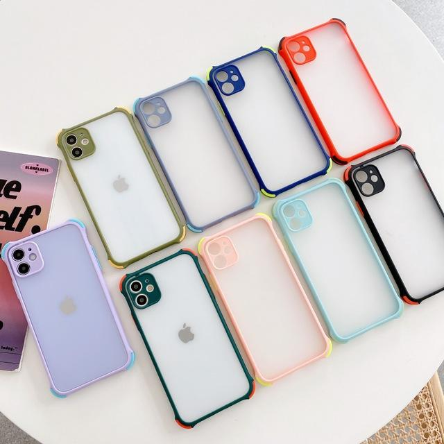 Armor Shockproof Matte Hard PC Back Cover For Iphone 12 11 Pro Max XR X XS 6 7 8 Plus Samsung S20 Ultra S10 Case