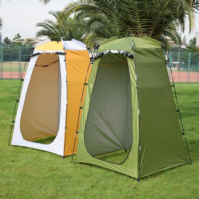 Giyinme takılması Odası Barınak Yürüyüş Plaj Taşınabilir Big Tent Kamp Yürüyüş Su geçirmez Duş Hesap Yıkanma Tuvalet Ten Açık