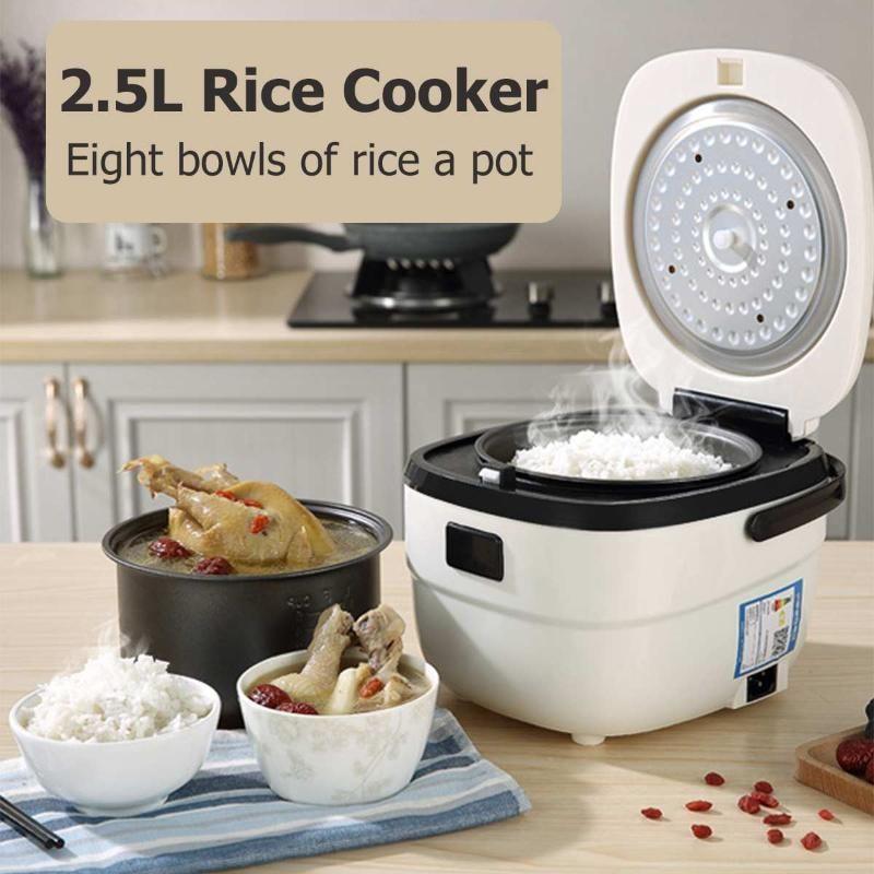 Panela elétrica de arroz arroz 2.5L Cozinhar Máquina Multifunction Cozinhar Steamer inteligente Non-Stick automática revestimento interno Pan Fogão