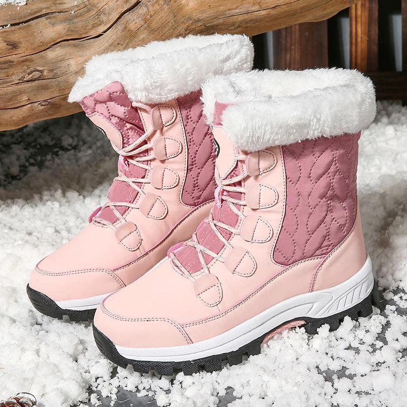 Зимние ботинки женщин супер теплый снег сапоги водонепроницаемого Покрытие голеностопная Женские Толстый Fur Платформа Botas Mujer Плюшевые пинетки