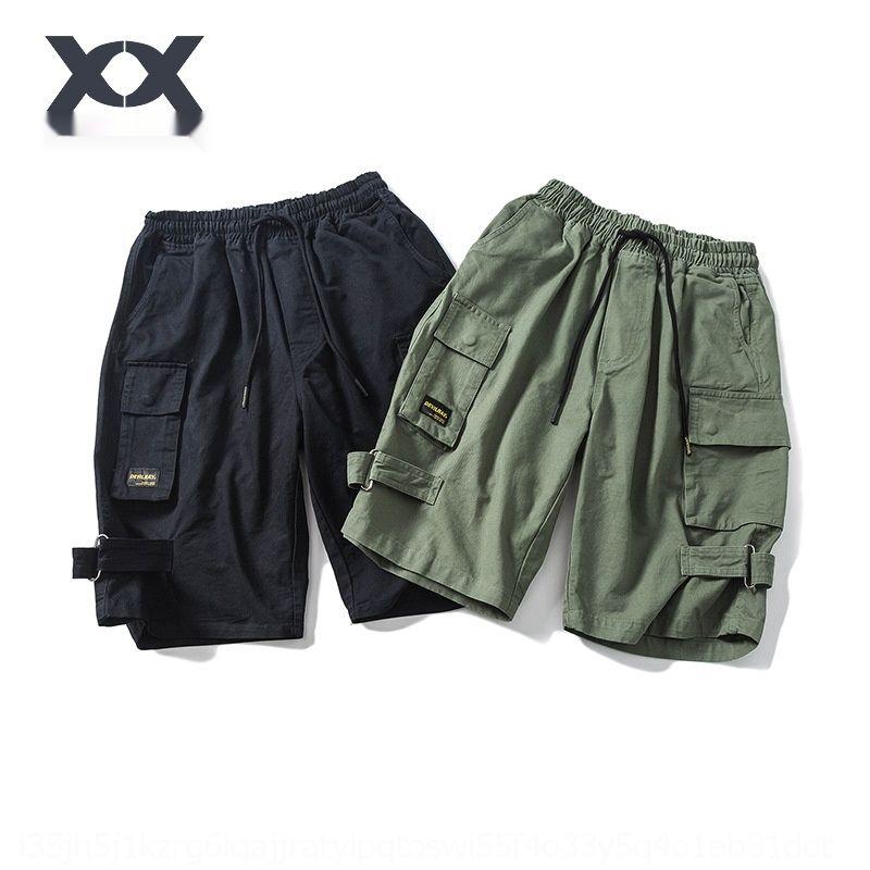 Shorts de ferramentas No44 e Calças e moda calças Shorts para homens INS dos homens calças de cinco parte de verão calças DK012 q5leu
