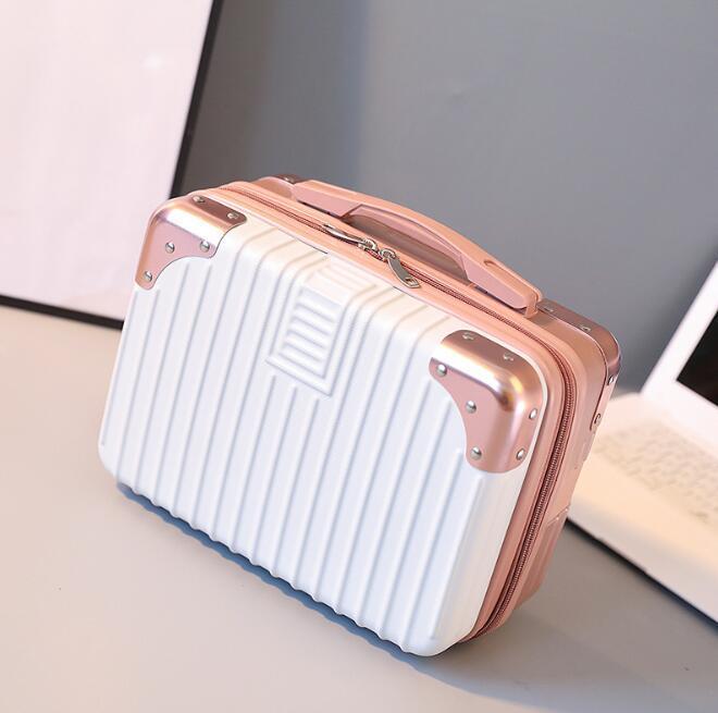 새로운 가방 여성 작은 화장품 가방 등 휴대용 여행 가방 미니 귀여운 레이디 화장품 핸드백