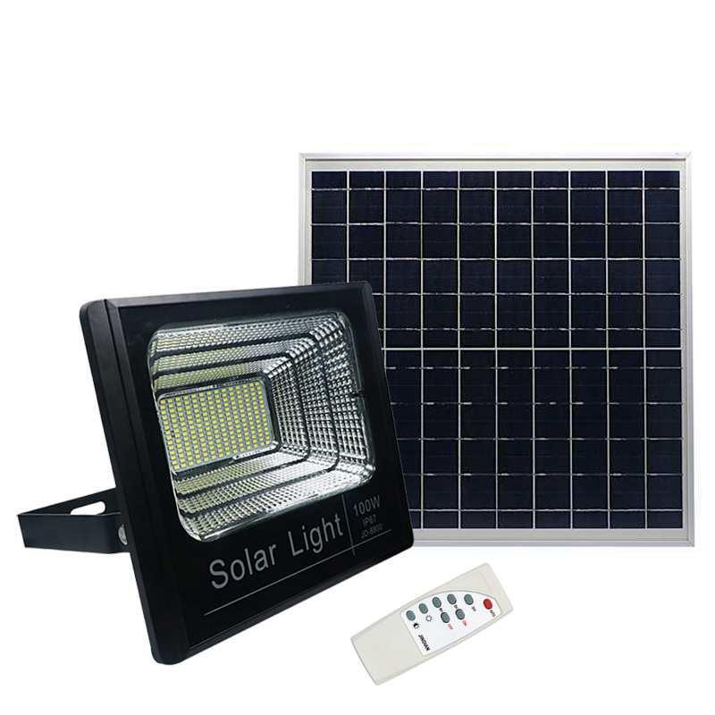 Cgjxs Edison2011 Solar-LED-Licht-Scheinwerfer 100w Lichtsteuerung Scheinwerfer Straßenlaterne wasserdichten IP67 im Freien Garten-Sicherheits-Licht