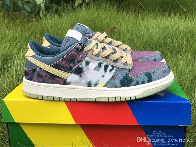 2020 Release Authentic SB Dunk Community Garden Basso SP limone Lavaggio di lavare Medicom Toy Be @ rbrick Styrucy Cherry Men Multi Color Scarpe da scarpe da ginnastica da esterno