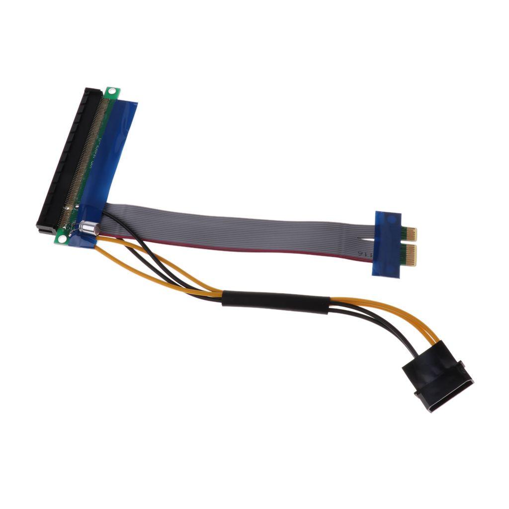 PCI-E 1x PCIe 16x Powered Extender adaptador de tarjeta vertical de cable flexible