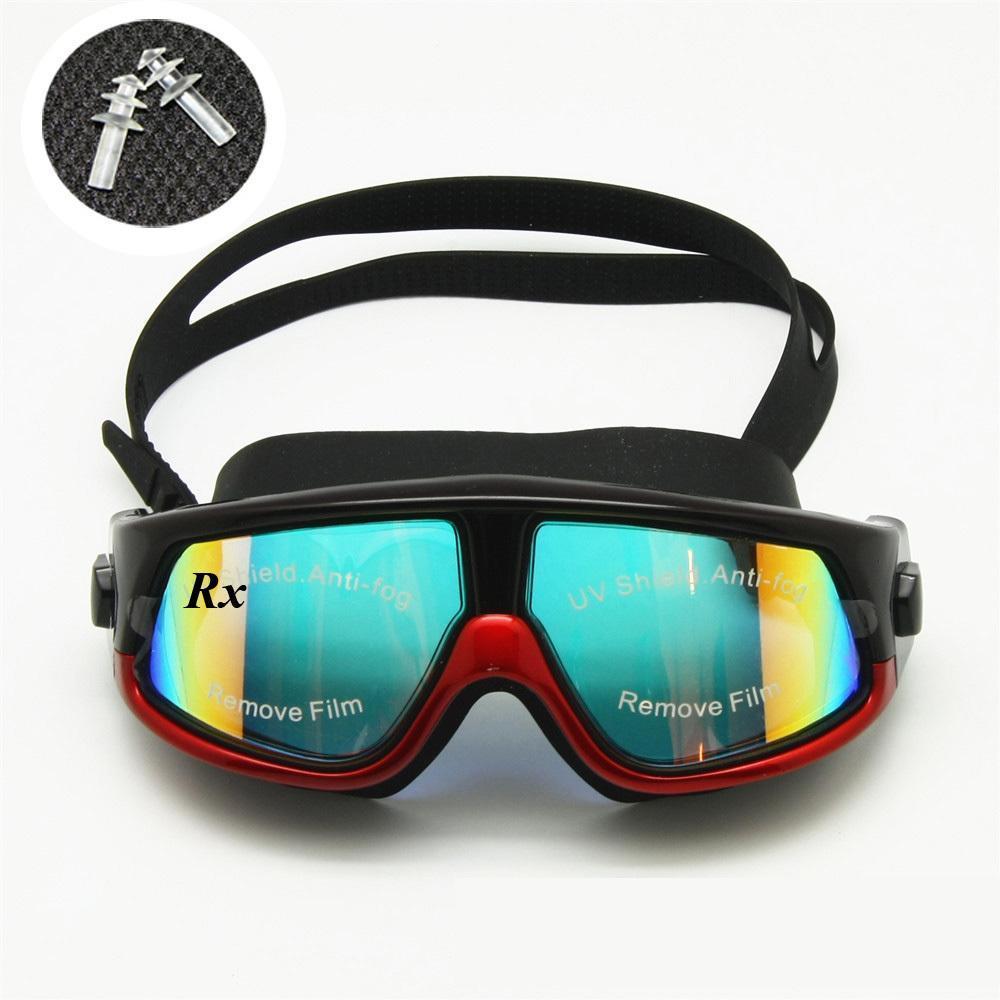 السباحة نظارات قصر النظر مد البصر بصري نظارات السباحة التصحيحية غص قناع الأذن المقابس مجاني حالة التخزين Y200616
