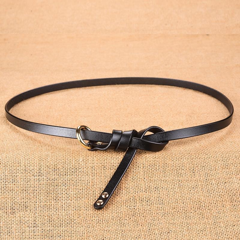 9V34J Nouveaux femmes roundleather pour simple décoration de la mode coréenne et ceinture de cuir de vache polyvalent ceinture fine ceinture Q1Ilu