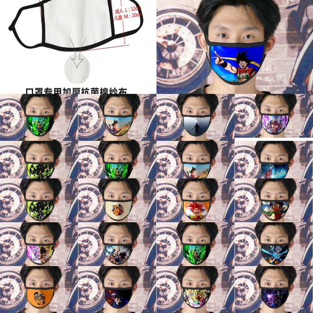 Мультфильм Dhl Бесплатная доставка Вегета 0620 Лицевые маски Cute маска для Mens Ice Шелковый Bilayer Cubrebocas Masque Tissu Tapaboca Zltrimmer007 Lxbbp