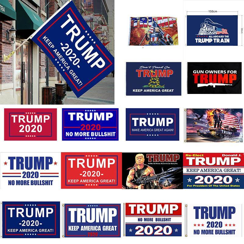 90 * 150см 3x5FT Keep America Great Donald президента кампании знамени 12 стилей Trump 2020 Флаг Дональд Трамп Флаг Поезд Сад Флаги