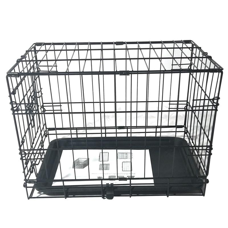 """20"""" Pet Kennel Cat Rabbit Folding Steel Crate Animal Playpen Wire Metal Cage Brand New and High Quality Black Stock in USA"""