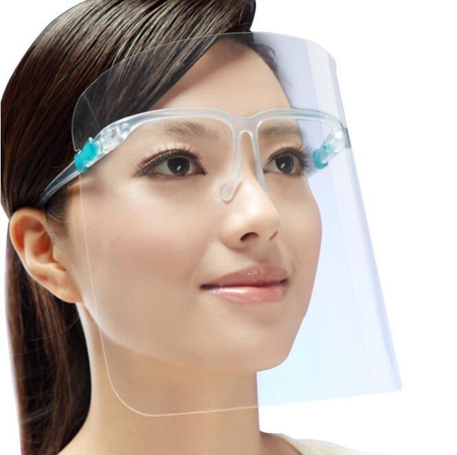 Titular de PET protector de cara con cristal de seguridad Aceite-Splash de polvo impermeable cubierta protectora transparente Cara facial de cristal FFA4212 Máscara adulta