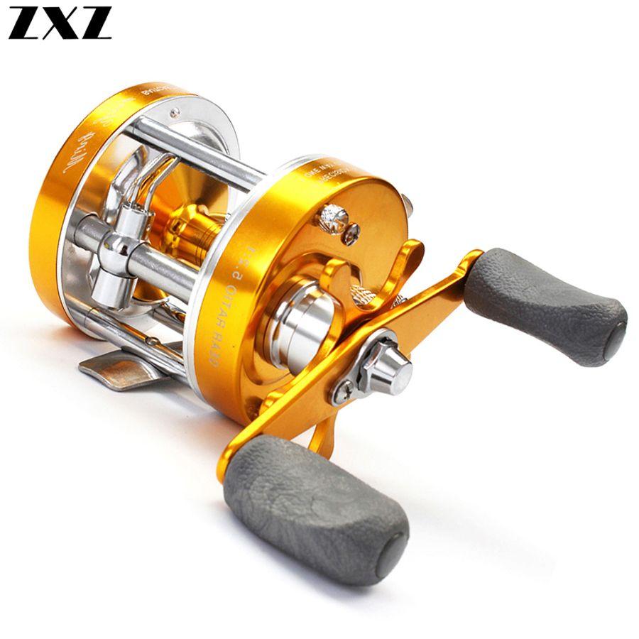 Все металлы углерода Центробежный двойной тормоз 5,2: 1 Рыбалка Bait Casting Мультипликаторы Spinning Reel питания Ручка Колесо для бас рыбы