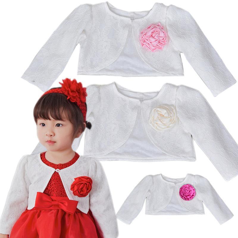 Baby Girl Clothing Lace Coat Princess Shrug Short Cardigan Infant Bolero Jackets Outerwear Wedding Party Dress Shawl Cape Naist Y200831