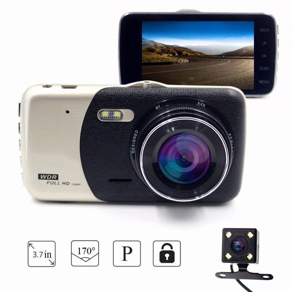2019 Yeni Taşınabilir 4,0 İnç IPS Ekran Araç DVR Dash Kamera Full HD 1080P 170 Derece Araç Video Kaydedici Otomatik Kaydedici RVlV #